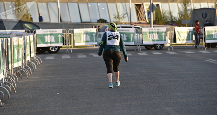 Участница Астана марафон