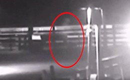 Странный силуэт, похожий на призрака, замечен во время урагана Флоренс в США