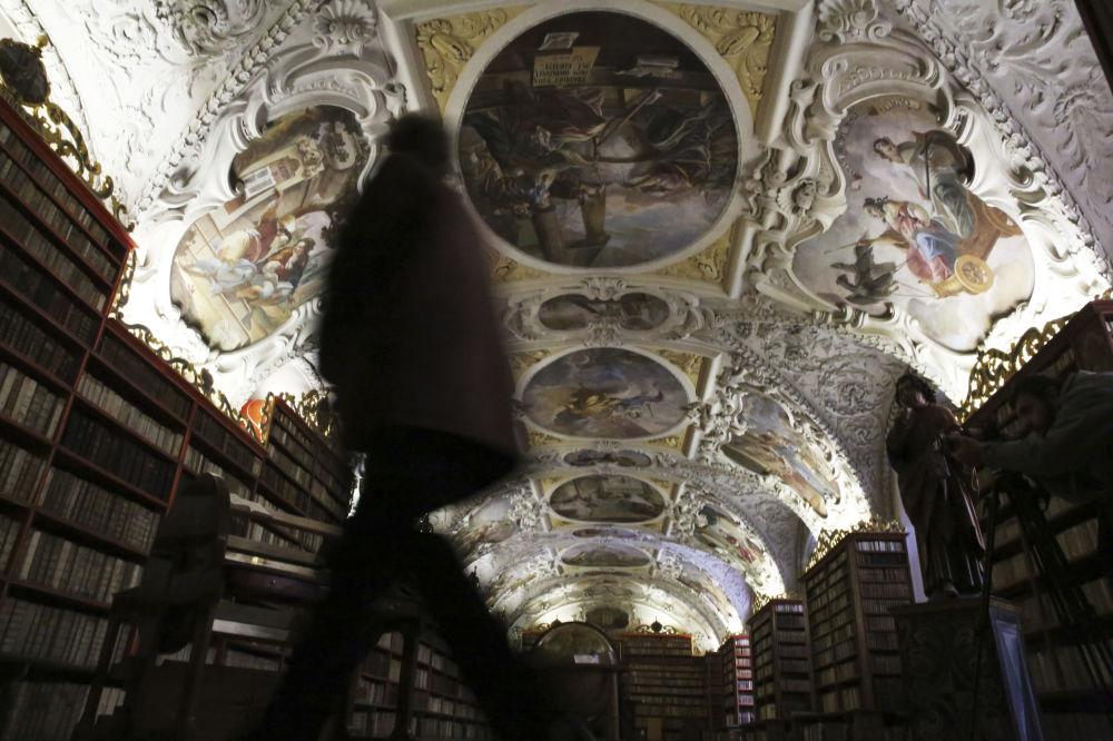 Библиотека Страхова монастыря в Праге, Чехия