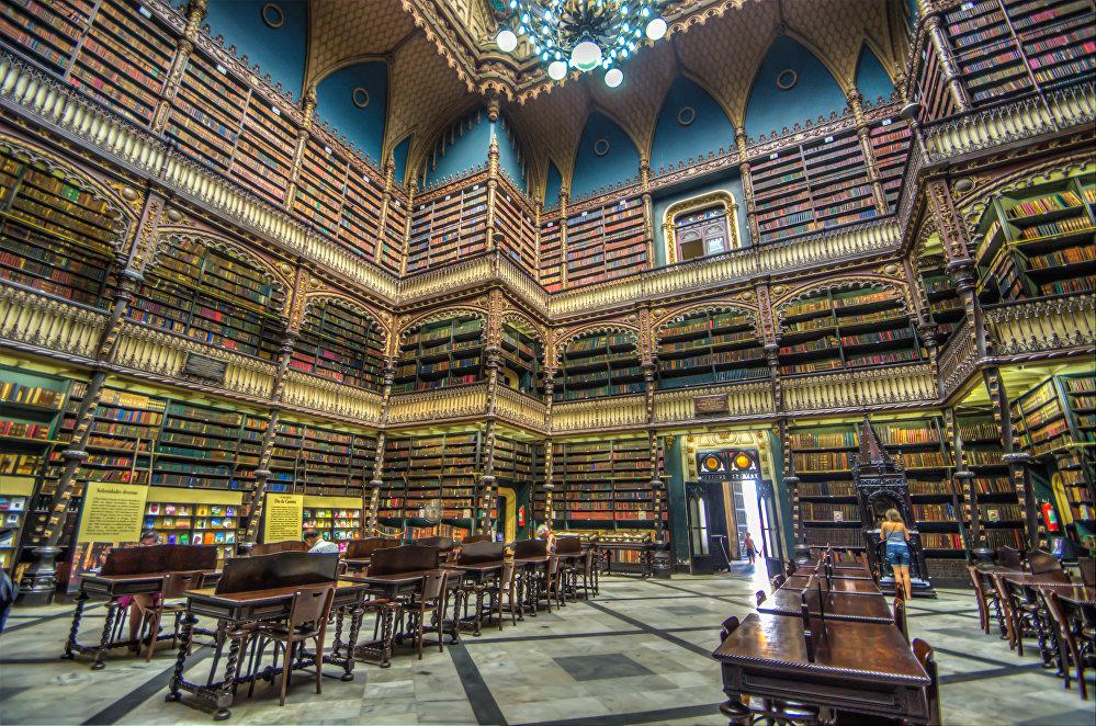 Португалия корольдігі кітапханасы, Рио-де-Жанейро, Бразилия.