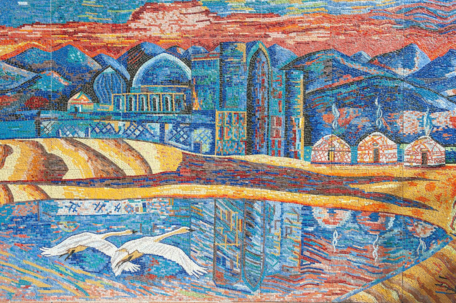 Панно Шелковый путь, автор Владимир Твердохлебов, 2004 год