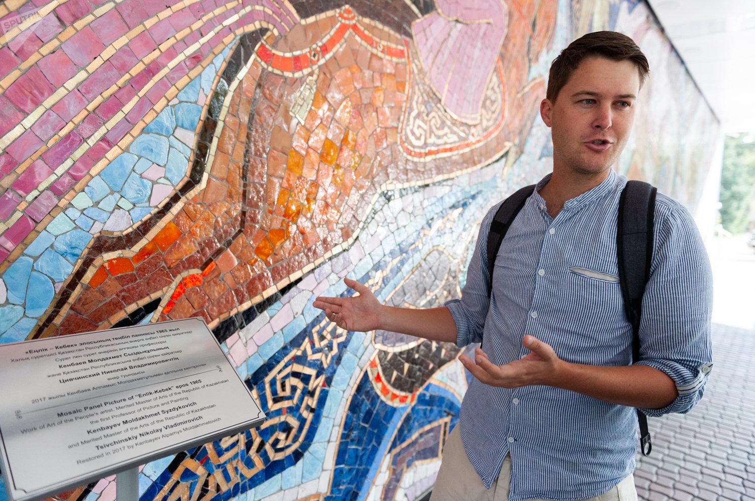 Американец Дэнис Кин - поклонник советско-казахстанского монументального искусства