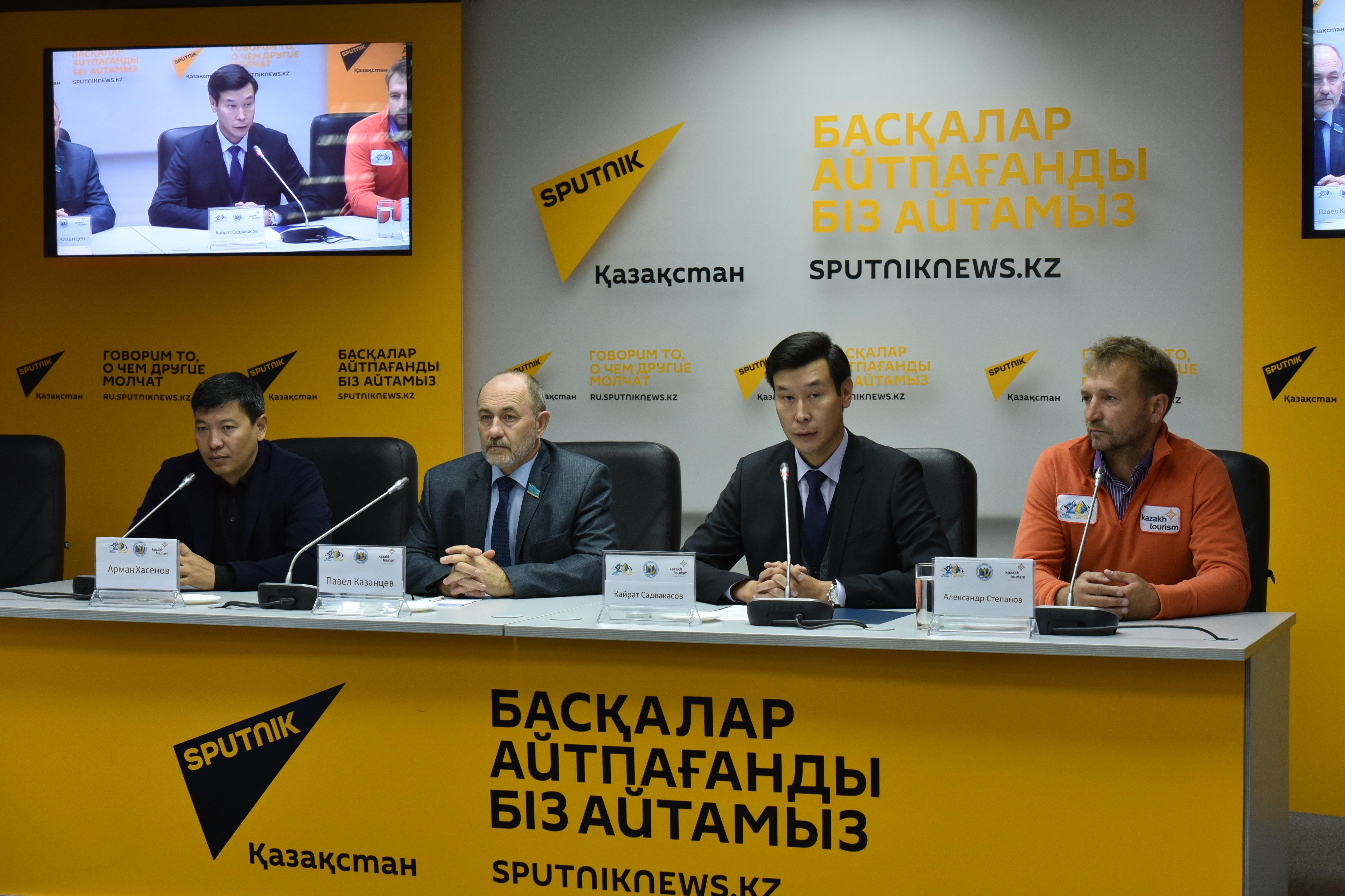 Пресс-конференция в честь завершения экспедиции 20 горных вершин, посвященной 20-летию Астаны