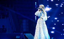 Данэлия Тулешова на гала-концерте в Алматы
