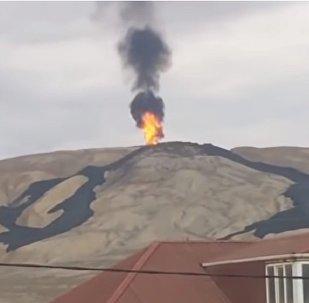 Грязевой вулкан проснулся в Азербайджане