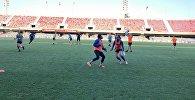Тренировка женского футбольного клуба БИИК-Казыгурт