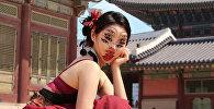 Оптические иллюзии создает на собственном теле художница из Сеула