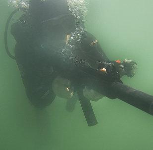 Боевые пловцы на учениях