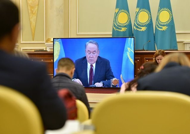 Видеотрансляция послания президента народу Казахстана в пресс-центре Акорды