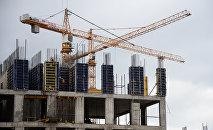 Строительство жилого комплекса, архивное фото