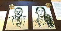 Изображение лауреатов Нобелевской премии мира Денис Мукве и Надя Мурад