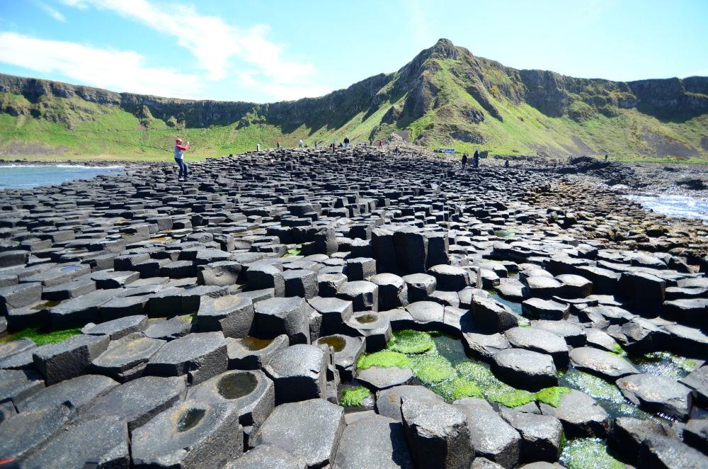 Дорога гигантов в Ольстере в Северной Ирландии