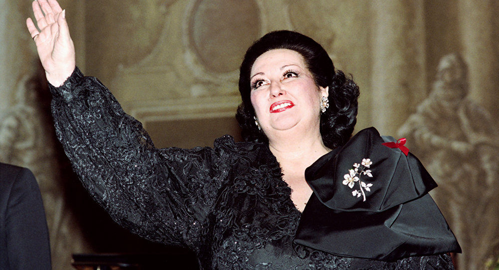 Оперная певица Монсеррат Кабалье во Франции, 1993 год, архивное фото
