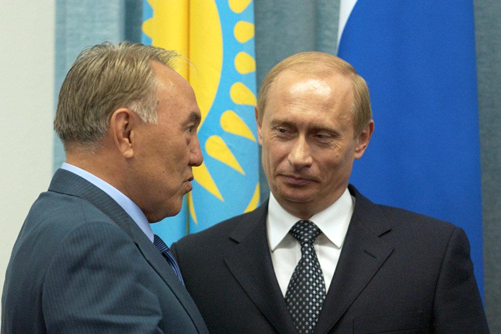 В.Путин мен Н.Назарбаев Челябинскідегі кездесу кезінде