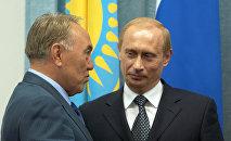 В.Путин и Н.Назарбаев во время встречи в Челябинске