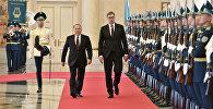 Президент Сербии Александр Вучич во время официального визита в Казахстан