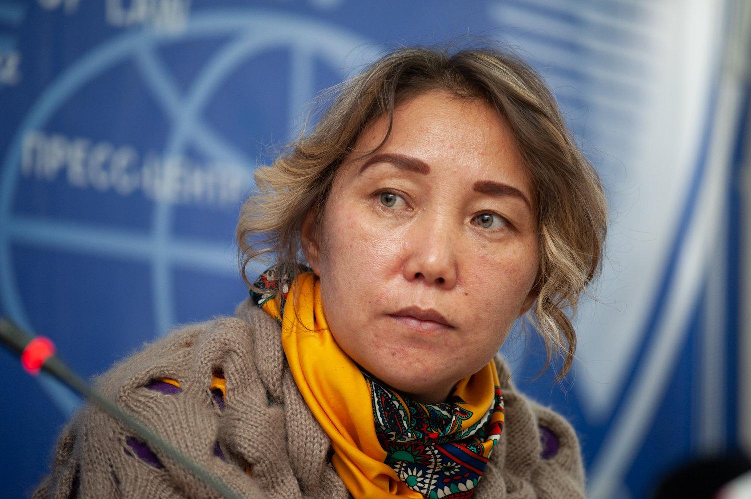 Участники пресс-конференции, посвященной массовому увольнению и выселению преподавателей и сотрудников вузов в Алматы