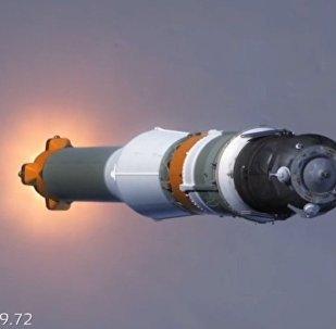 Видео произошедшей во время старта ракеты Союз аварии