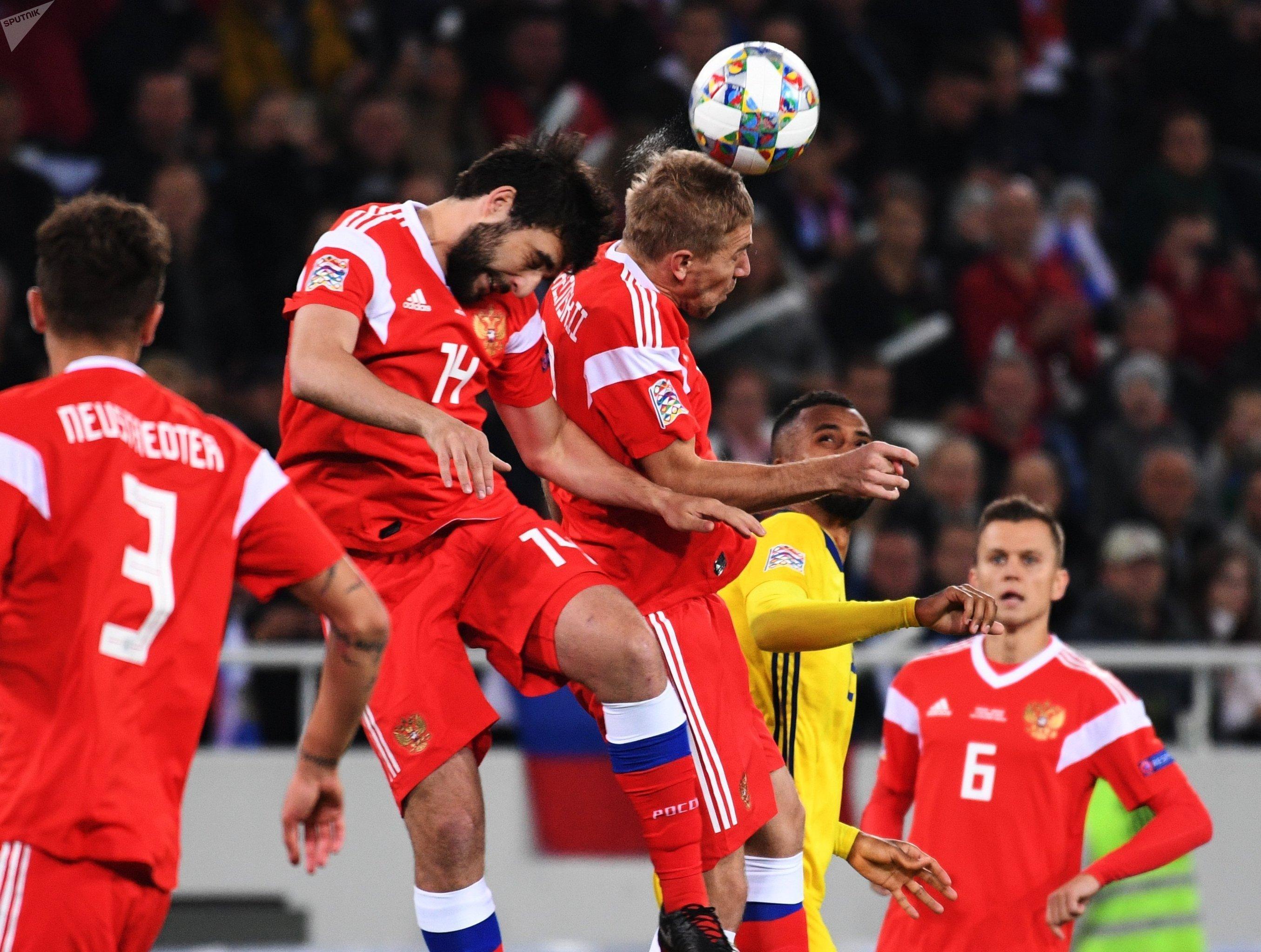 Футбол. Лига наций УЕФА. Матч Россия - Швеция