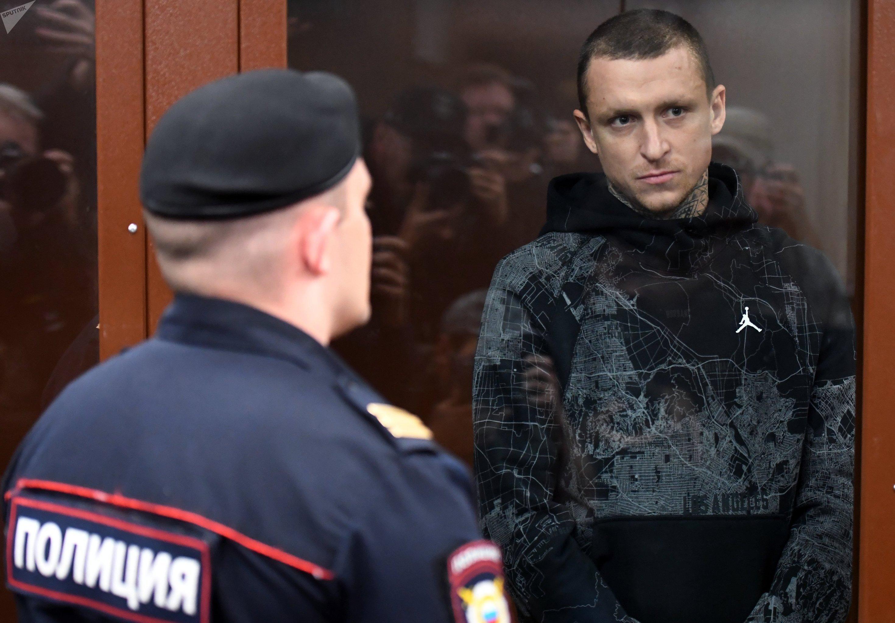 Футболист Павел Мамаев, обвиняемый в хулиганстве, на заседании Тверского районного суда Москвы