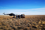 Капсула на которой аварийно приземлились члены основного экипажа МКС-57/58 космонавт Роскосмоса Алексей Овчинин и астронавт NASA Ник Хейг