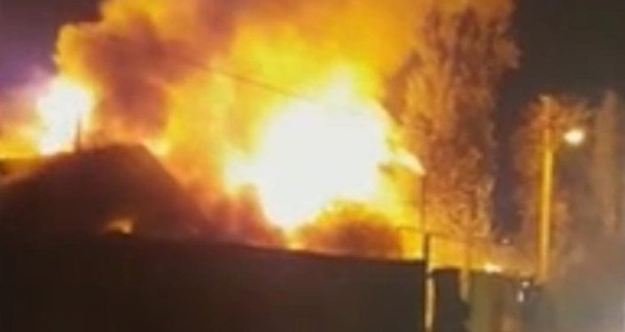 Пожар в частном секторе в Алмалинском районе