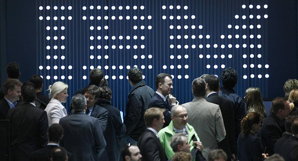 Гериманиядағы электронды көрмедегі IBM компаниясының стенді