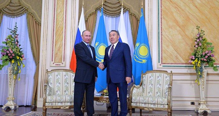 РФ Президенті Владимир Путин мен Қазақстан басшысы Нұрсұлтан Назарбаев