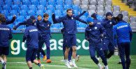 Предыгровая тренировка Национальной сборной Казахстана перед матчем с командой Андорры