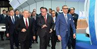 Президент Казахстана Нурсултан Назарбаев посетил презентационную площадку компании Nokia