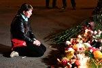Акция памяти после теракта в Керчи