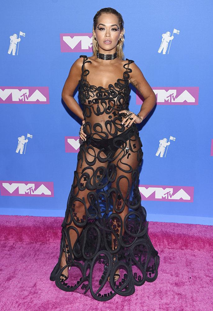 Рита Ора на MTV Video Music Awards в театрально-концертном зале в Нью-Йорка Radio City Music Hall, 2018 год