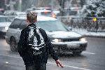 Снег в Алматы, архивное фото