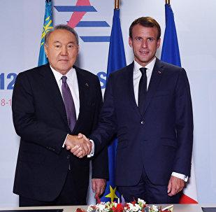 Встреча с Президентом Французской Республики Эмманюэлем Макроном