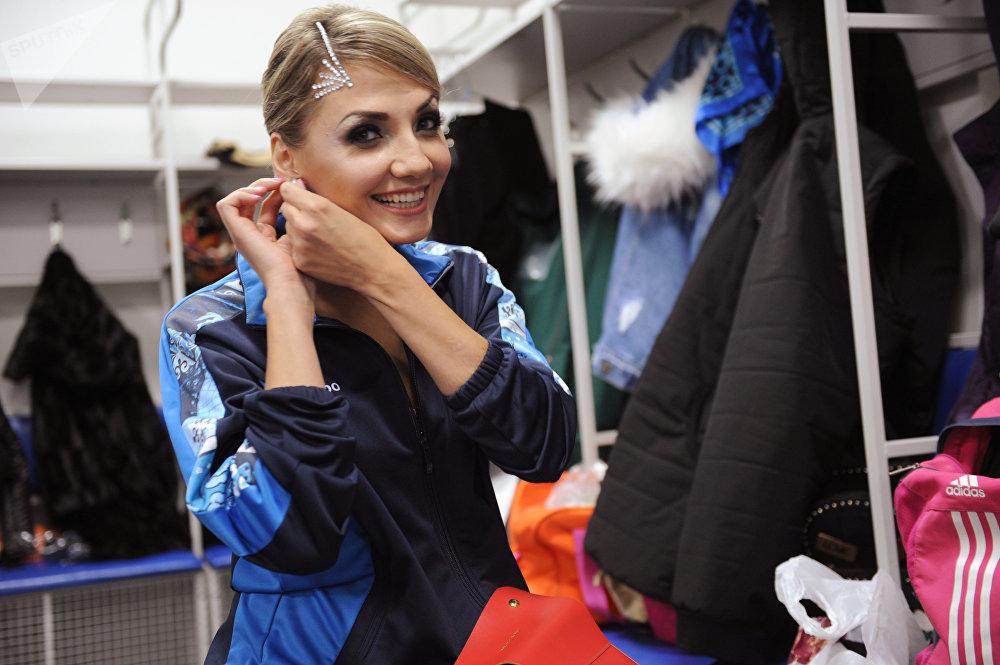 Екатерина Парафиева во время чемпионата Казахстана по паратанцам