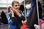 Екатерина Парафиева во время чемпионата Казахстана по паратанцам, архивное фото