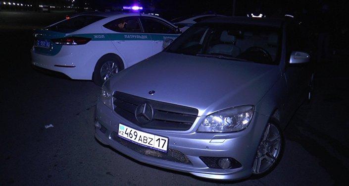 Автомашина, на которой был нарушитель в момент задержания