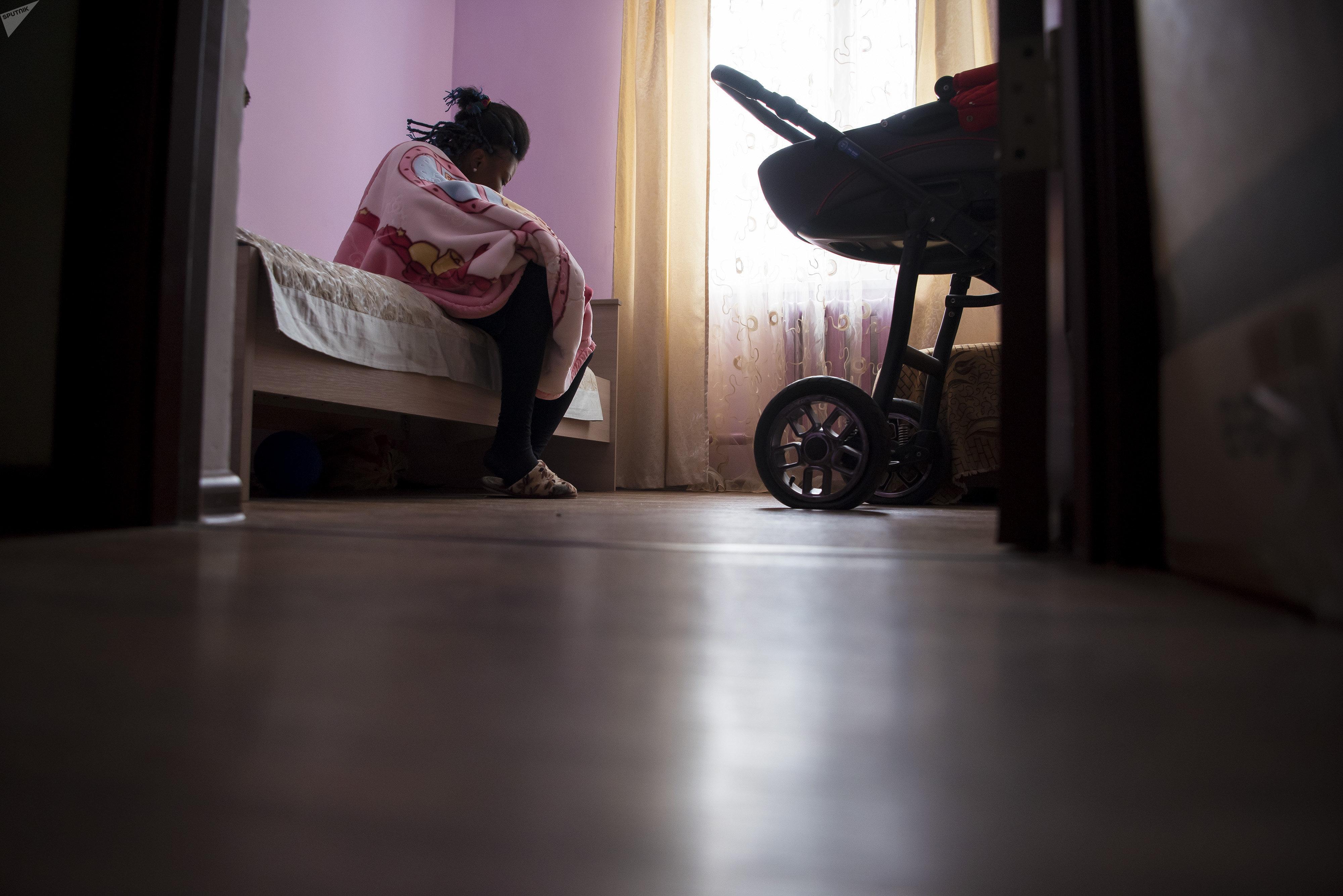 Моника с дочерью живут в Центре временного проживания Комек