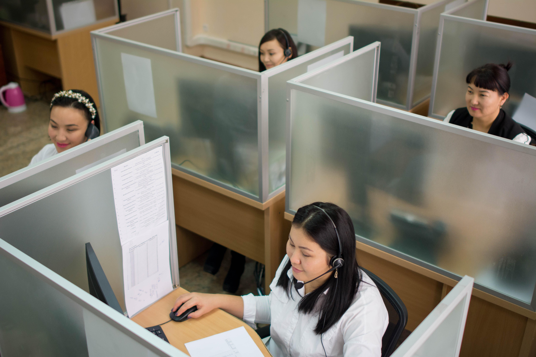 Сотрудницы Колл-центра госкорпорации Правительство для граждан