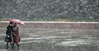 Дождь со снегом, архивное фото