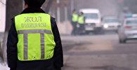 Архивное фото дорожного полицейского Казахстана