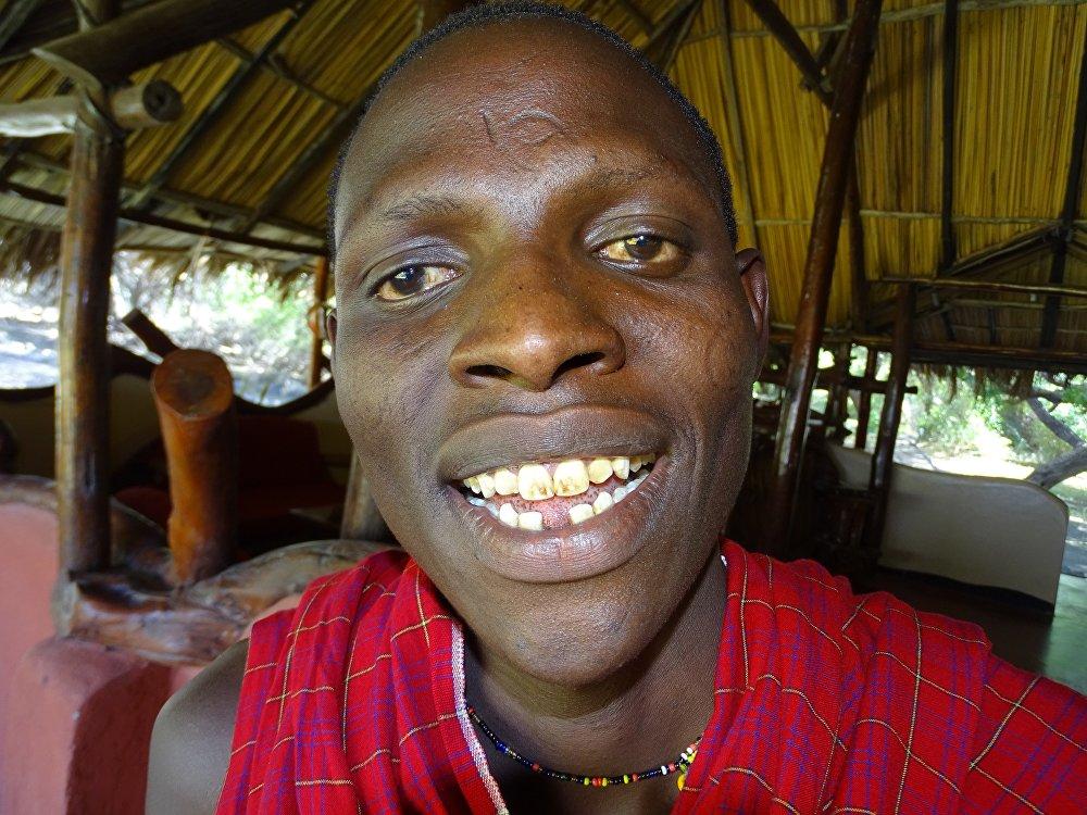 Представитель африканского племени, масаи