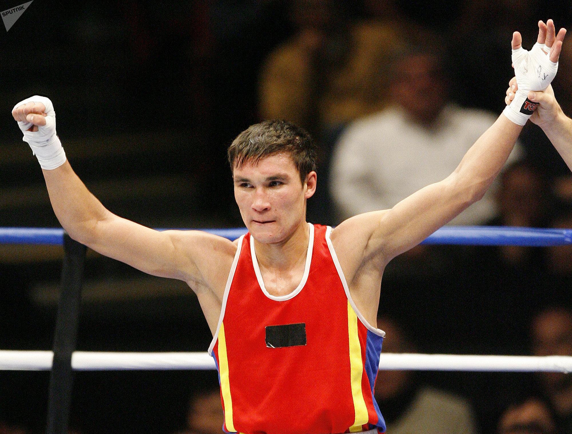 Архивное фото Серика Сапиева на чемпионате мира по боксу в Чикаго