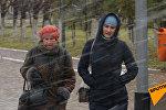 Астана в ярости: противостояние жителей и ветра попало на видео