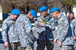 Отправка казахстанской миротворческой роты в Ливан, архивное фото