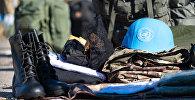 Каски, которые миротворцы берут с собой, казахстанского производства