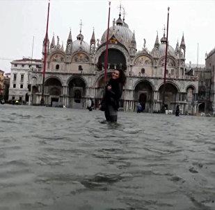 Небывалое наводнение в Венеции