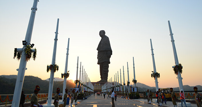 Статуя единства в Индии  - самая высокая статуя мира