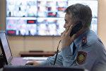 Сотрудник управления полиции Алматы, архивное фото