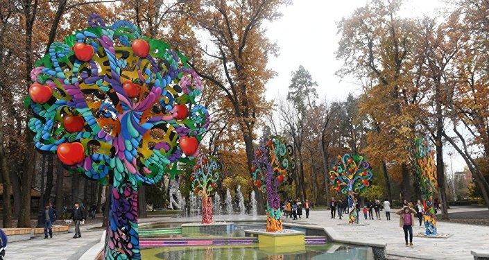 Центральный парк Алматы после реконструкции